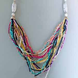 Chico's Multi Colored Beaded Candi Swag Necklace